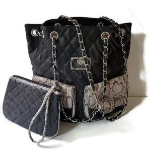 Original by SHARIF Leather 3-in-1 Bag & Wristlet